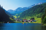 Bathing in the Zauchensee Lake